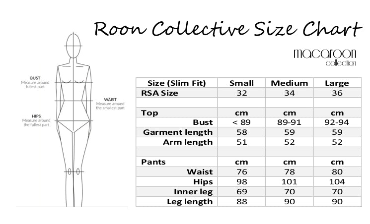Roon Collective Ladies Loungewear Set - Grey - Macaroon Collection