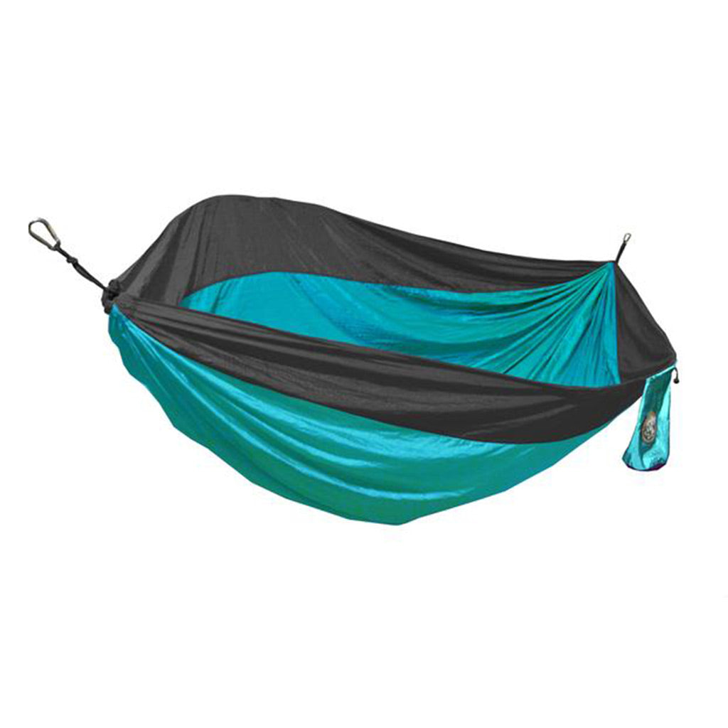 Single Person Aqua Blue & Gray Travel Hammock