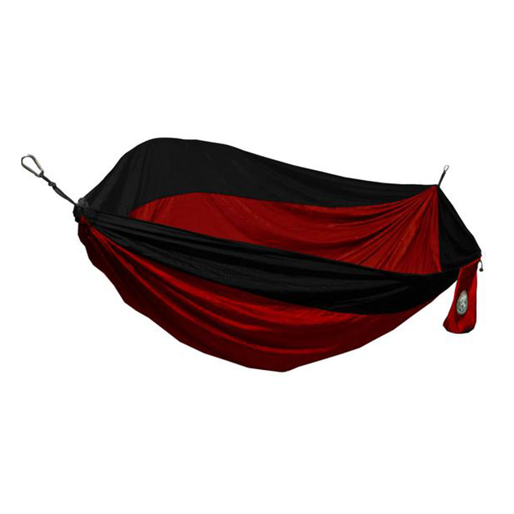 Single Person Red & Black Travel Hammock