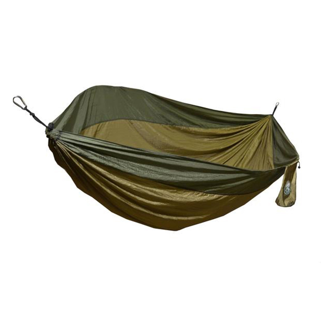 Two Person Bronze & Olive Green Travel Hammock