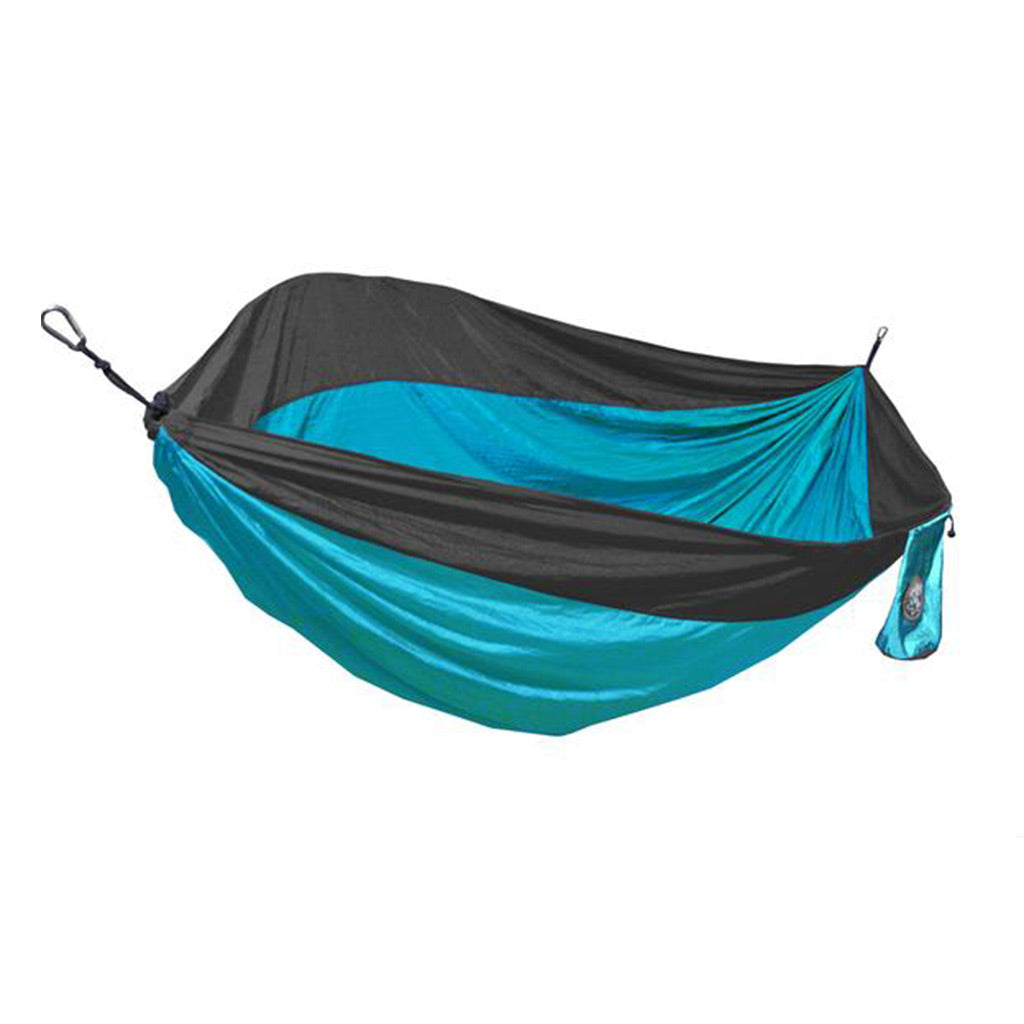 Two Person Teal Blue & Gray Travel Hammock