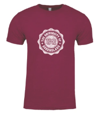 Team UQ Womans Tee Wax Seal Maroon
