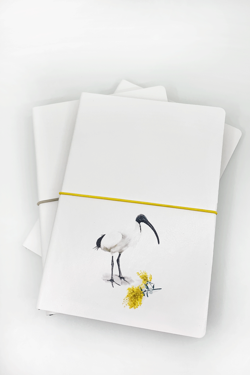 UQ Notebook Ibis Print