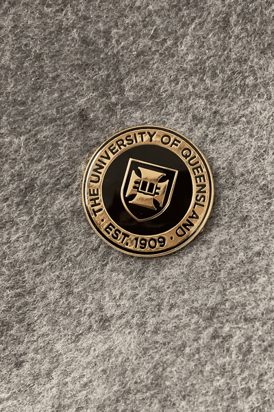 UQ Enamel Pin Black/Gold