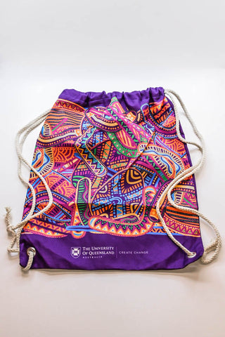 uq rap drawstring bag