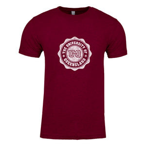 Team UQ Men's Tee Wax Seal Maroon