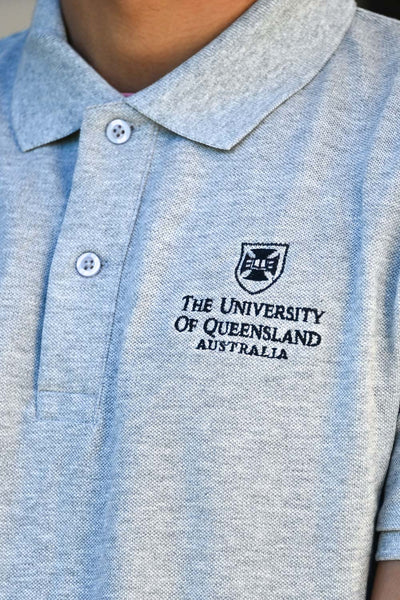 UQ Shield Mens Polo - Grey