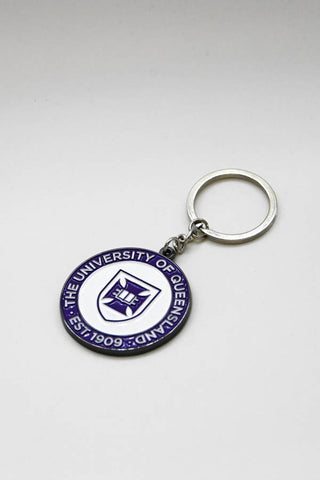 UQ Shield Keyring Purple