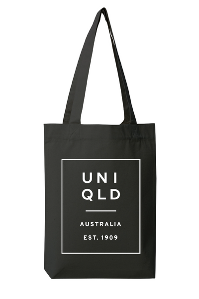 UQ Box Print Tote-Black