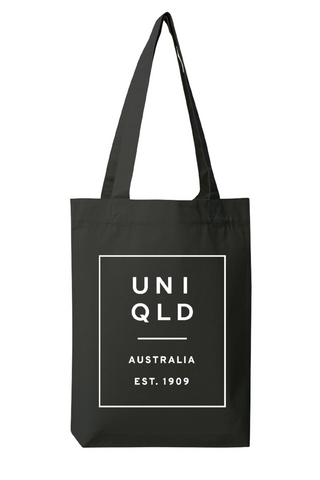 UQ Box Print Tote - Black