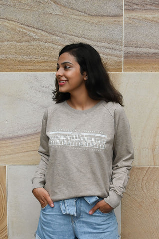 UQ Womens Forgan Smith Sweater - Heather Sand