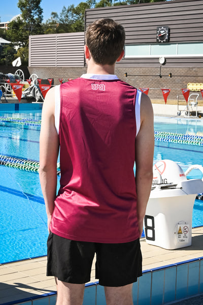 Team UQ Men's Basketball Top Schonell Bridge Maroon/White