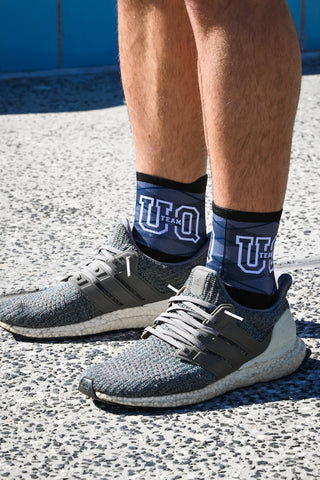 Team UQ Unisex Strideline Sock Black