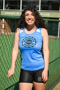 Team UQ Woman's Tank Wax Seal Navy/Light Blue