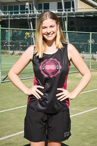 Team UQ Woman's Tank Wax Seal Black/Maroon