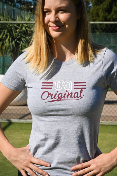 Team UQ Womans Tee Original Grey