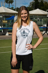 Team UQ Woman's Tank Schonnel Bridge White/Navy