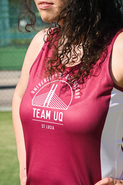 Team UQ Woman's Tank Schonnel Bridge Maroon/White