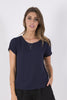 Light Crepe T-Shirt - Navy