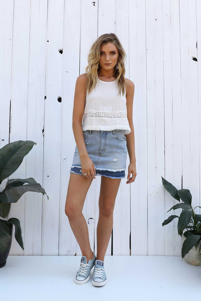 Dallas Denim Skirt