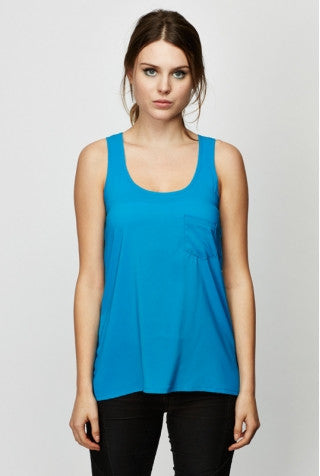 Pocket Basic Tank - Peacock