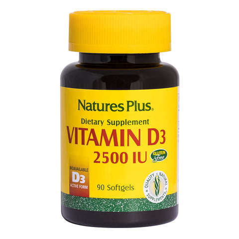 Nature's Plus Vitamin D3 2500iu - 90 Softgels - Health Emporium