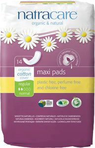 Natracare Organic Cotton Maxi Pads - Regular - 14 - Health Emporium