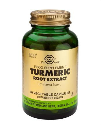 Turmeric Root Extract 60 Vegetable Capsules - Health Emporium