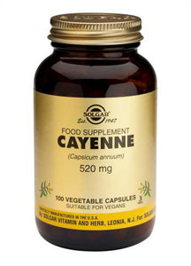 Cayenne 520 mg 100 Vegetable Capsules - Health Emporium