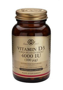 Vitamin D3 4000 IU (100µg) Vegetable Capsules - Health Emporium