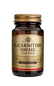 L-Carnitine 500 mg 30 Tablets - Health Emporium