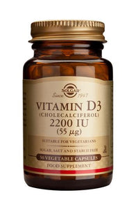 Vitamin D3 2200 IU (55 µg) Vegetable Capsules 50's - Health Emporium