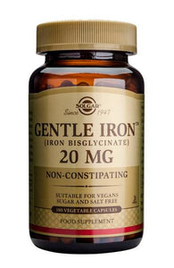 Gentle Iron(TM) 20 mg 180 Vegetable Capsules - Health Emporium