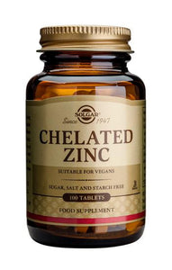 Chelated Zinc 100 Tablets - Health Emporium