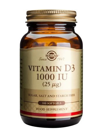 Vitamin D3 1000 IU (25 µg) Softgels - Health Emporium