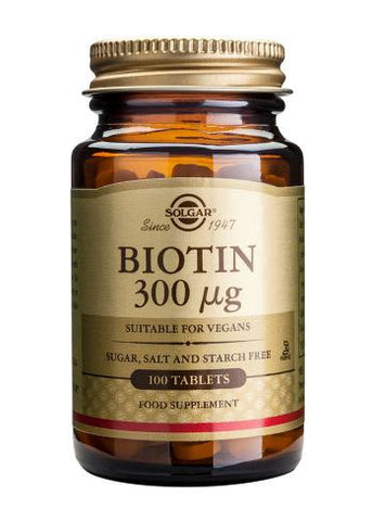 Biotin 300 µg 100 Tablets - Health Emporium