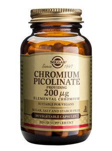 Chromium Picolinate 200 µg 90 Vegetable Capsules - Health Emporium