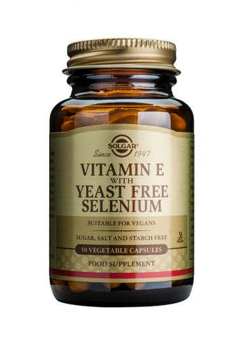 Vitamin E with Yeast Free Selenium Vegetable Capsules - Health Emporium