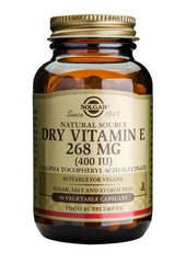 Dry Vitamin E 268 mg (400 IU) 50 Vegetable Capsules