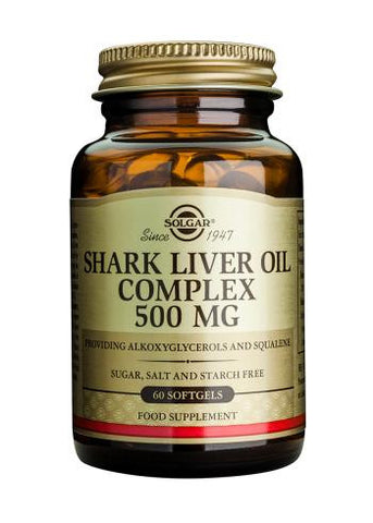 Shark Liver Oil Complex 500 mg Softgels - Health Emporium
