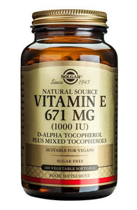 Vitamin E 671 mg (1000 IU) Vegetable Softgels - Health Emporium