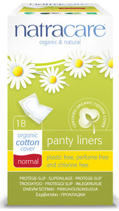 Natracare Organic Cotton Panty Liners - Individually Wrapped - Pack of 18 - Health Emporium