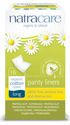 Natracare Organic and Natural Individually Wrapped Panty Liner - Long - Health Emporium