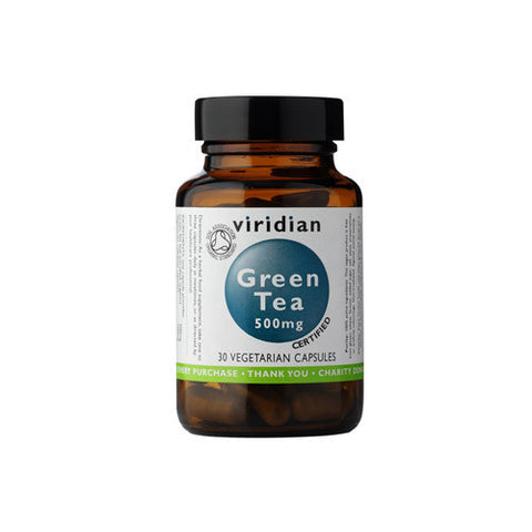 Organic Green Tea Leaf 500mg Veg Caps - Health Emporium