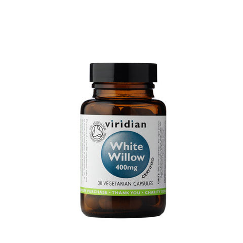Organic White Willow 400mg Veg Caps - Health Emporium