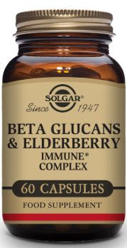 Beta Glucans & Elderberry Immune Complex 60 Vegetable Capsules - Health Emporium