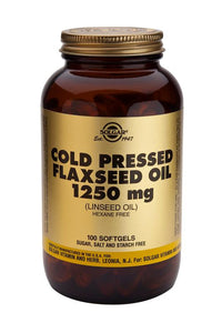 Cold Pressed Flaxseed Oil 1250 mg 100 Softgels - Health Emporium