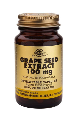 Grape Seed Extract 100 mg Vegetable Capsules - Health Emporium