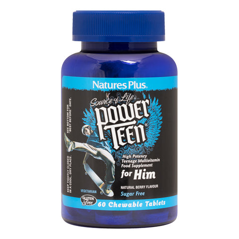 Nature's Plus - Source of Life Power Teen for Him 60 chewables - Health Emporium