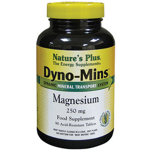 Nature's Plus  Dyno-Mins, Magnesium, 250 mg, 90 Acid-Resistant Tablets - Health Emporium